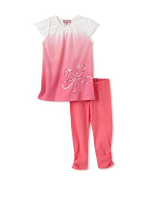 Nicole Miller Girl's Flower Tunic with Leggings (Fuchsia)