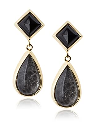 Kara Ross Watersnake Teardrop Clip-On Earrings, Anthracite