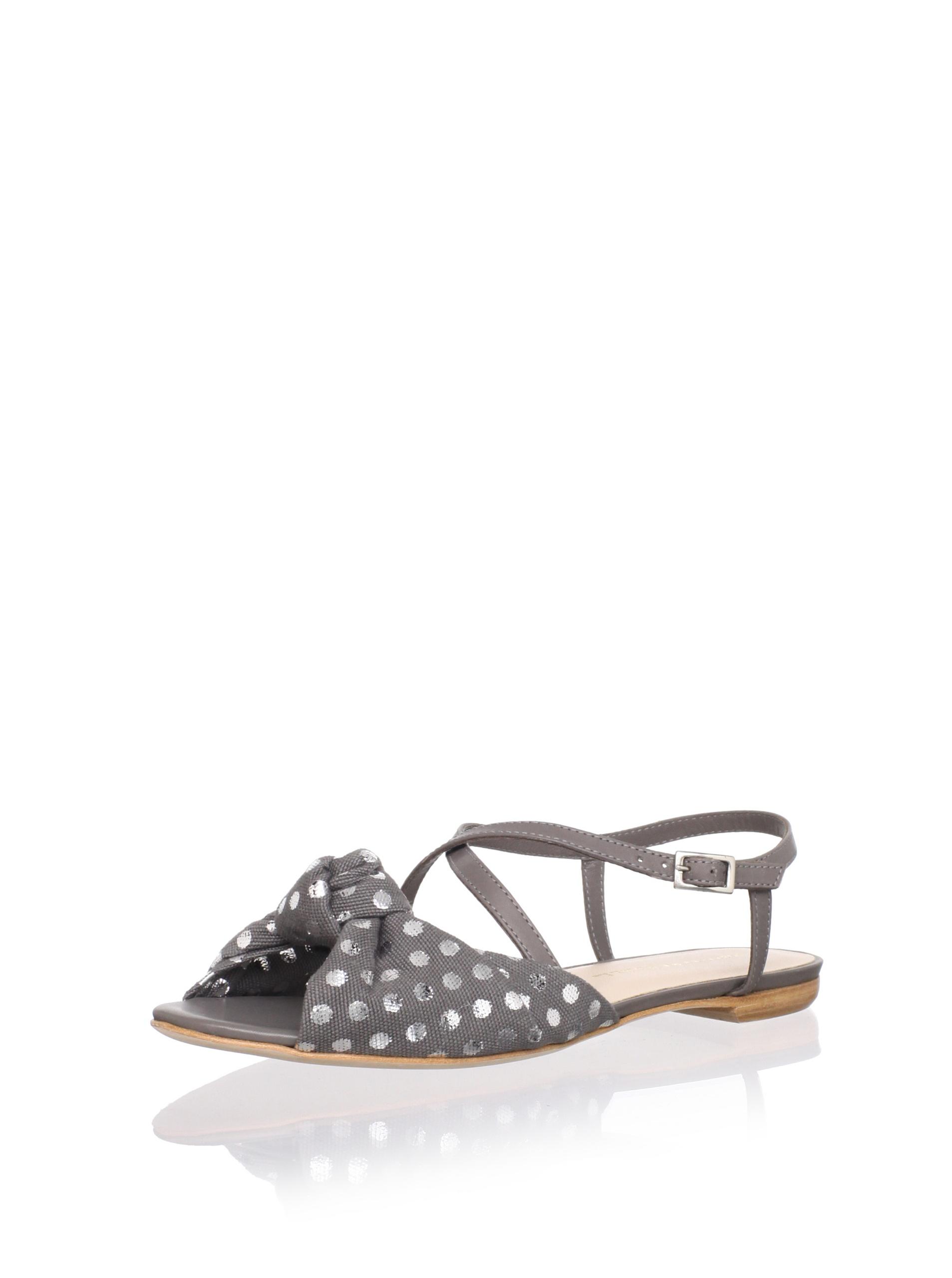 Loeffler Randall Women's Francie Flat Sandal (Grey)
