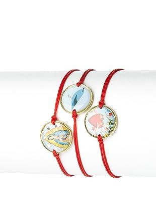 Mercedes Salazar Set of 3 Heart Charm Bracelets