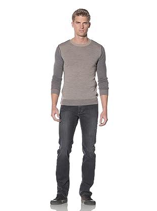 Just Cavalli Men's Colorblock Crew Neck Sweater (Tan)