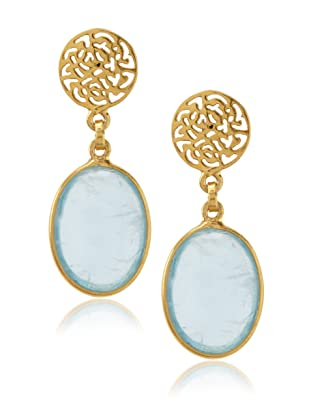 Trésor Oval Aquamarine Drop Earrings