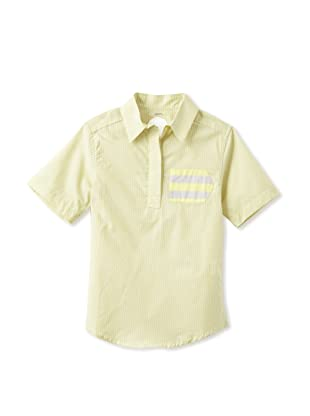 kicokids Boy's Short Sleeve Henley with Sideways Pocket (Citrus)