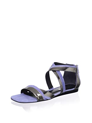 Pour La Victoire Women's Brienne Sandal (Pewter/Dusty Blue)
