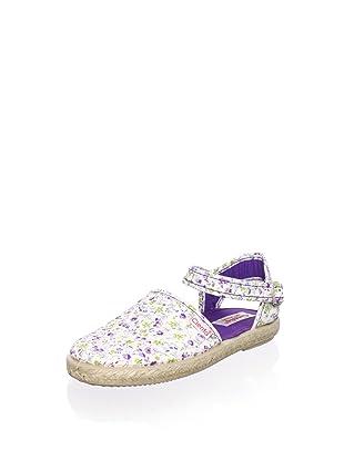 Cienta Kid's Ankle Strap Espadrille (Purple)