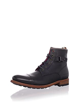 Ted Baker Men's Mukki 2 Lace-Up Boot (Black Leather)