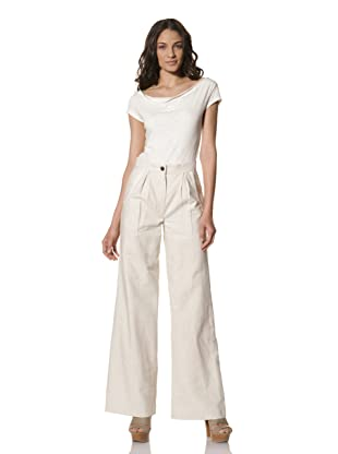 Billy Reid Women's Heirloom Trouser (Natural Stripe)