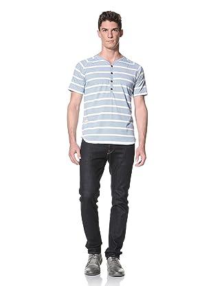Marshall Artist Men's Short Sleeved Henley (Electric Blue)