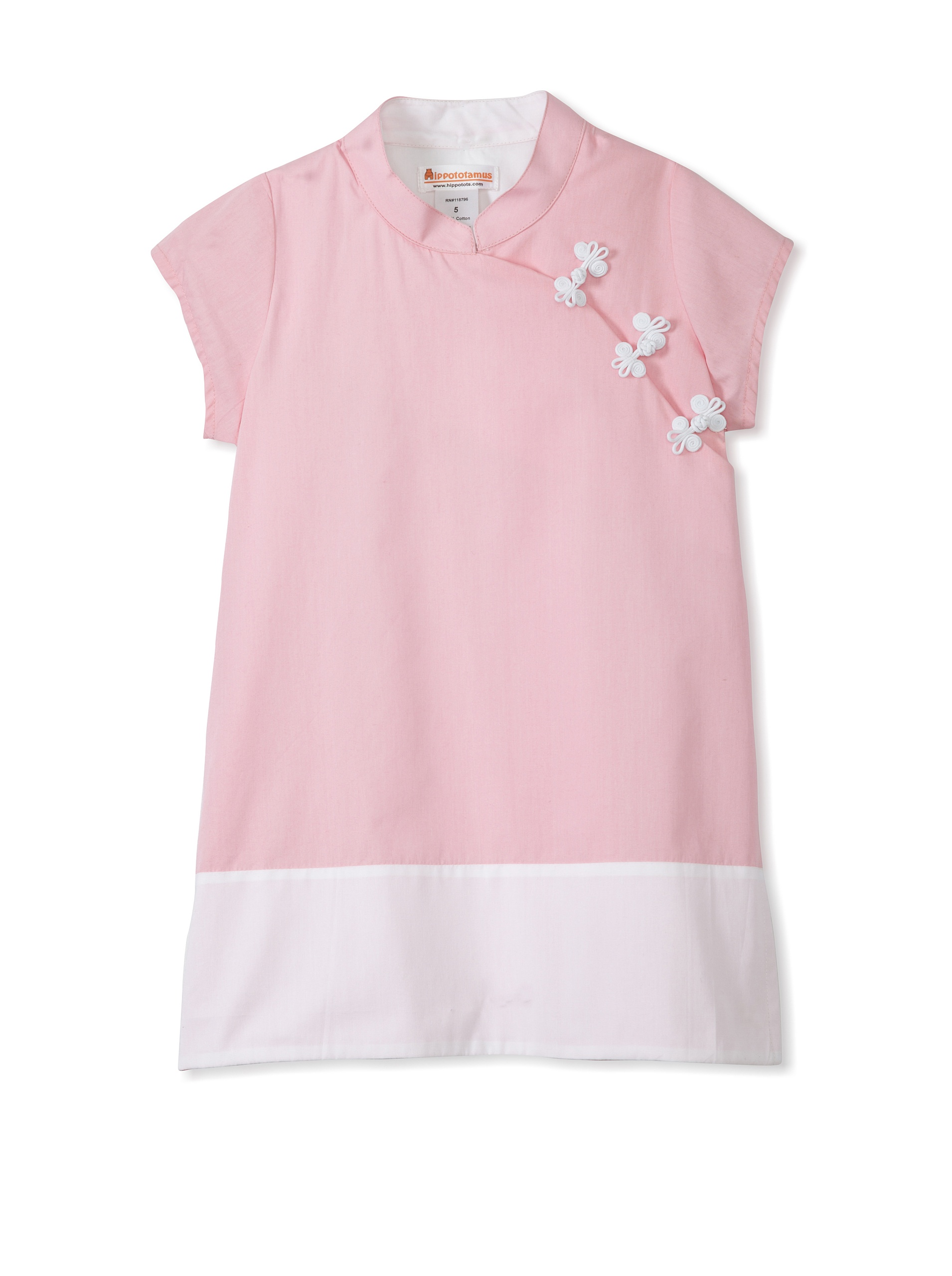 Hippototamus Mandarin Dress (Pink)