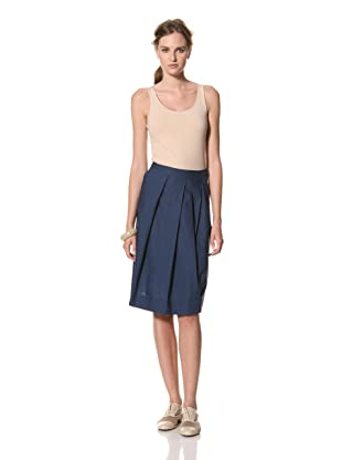 MARNI Women's Solid Pleated Skirt (Dark Navy)