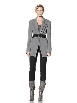 Haider Ackermann Women's Open-Front Menswear Jacket (Anthracite)