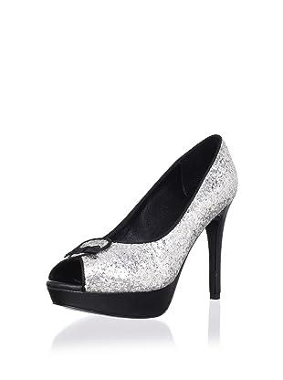 Pour La Victoire Women's Channa Platform Pump (Silver Glitter)