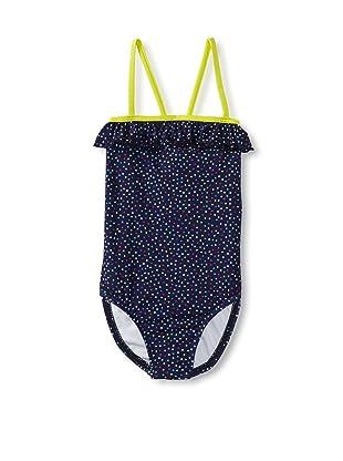 Splendid Girl's Confetti Dot One Piece Swimsuit (Navy)