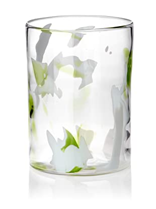 Abigails Glass Hurricane (Clear/Green)