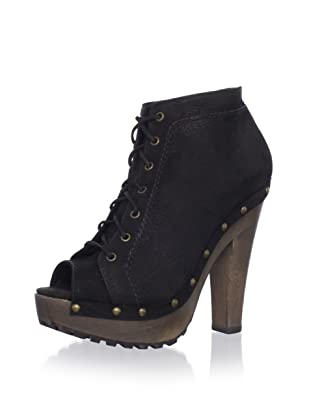 Schutz Women's Platform Lace-Up Bootie (Black)