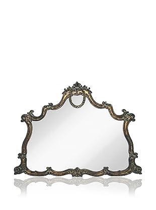 Georgette Mantle Mirror (Antique Bronze/Black)