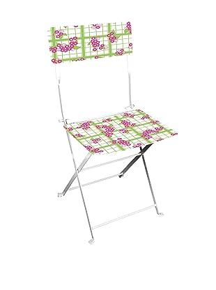Esschert Design Tea Towel/Flower-Print Bistro Chair, Multi