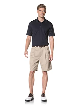 PGA Tour Men's Solid Polo (True Navy)