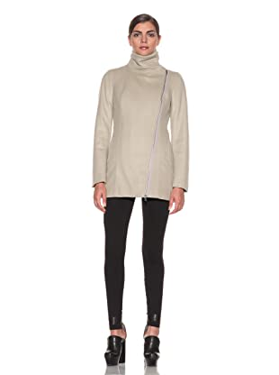 Costume National Women's Wool Blend Funnel Coat (Beige)