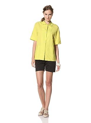 MARNI Women's Short Sleeve Button Front Shirt (Yellow)