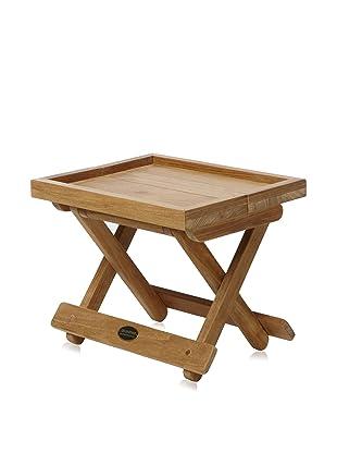 Les Jardins Folding Side Table, Teak