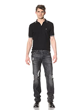 Just Cavalli Men's Distressed Gray Jeans (Dark Grey)