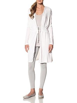 Samantha Chang Women's Drape Front Robe (White)
