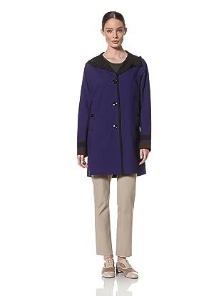 Jane Post Women's Soho Coat with Contrast Trim (Brilliant Blue)