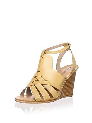 Pour La Victoire Women's Isadora Wedge Sandal (Tan)