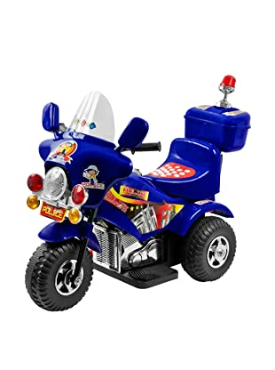 Lil' Rider Battery-Powered Blue Justice Police Trike, Blue