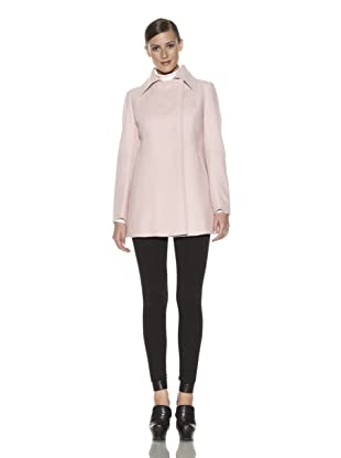 Costume National Women's Kick Pleat Coat (Pale Pink)