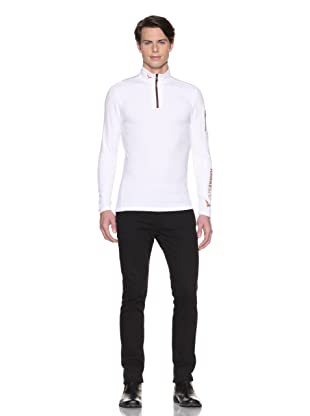 Hawke & Co Men's Half-Zip Compression Shirt (White)