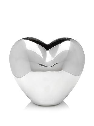 Lunares Heart Vase, Silver