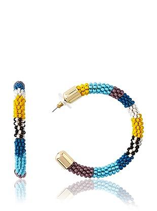 nOir Multicolor Hoop Earrings
