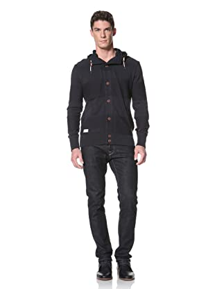 Marshall Artist Men's Button-Through Knit Hoody (Navy)