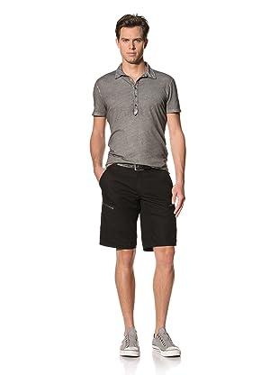 John Varvatos Star USA Men's Cargo Shorts with Zippers (Black)