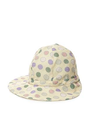 MARNI Women's Polka-Dot Hat (Lime/Purple)