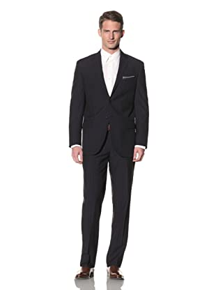 Yves Saint Laurent Men's Tonal and Pinstripe Suit (Navy/Beige)