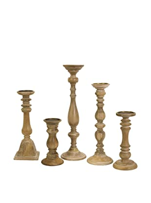 Imax Mason Natural Wash Candlesticks