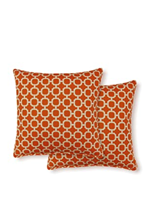Dakota Set of 2 Hockley Pillows (Mandarin)