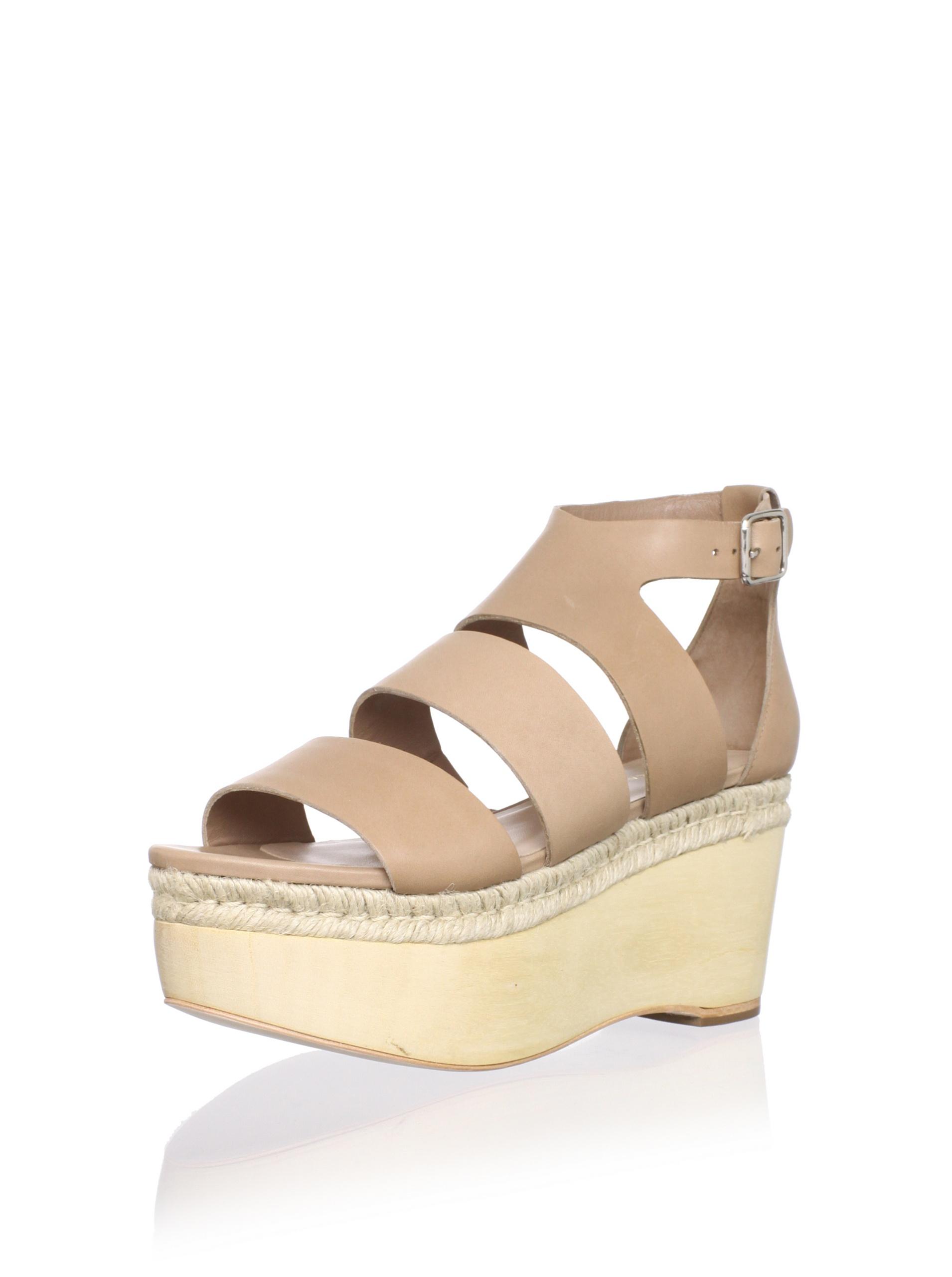 Loeffler Randall Women's Sasha Platform Sandal (Tortora)