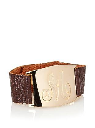 Lisa Stewart Gold M Initial Cuff Bracelet