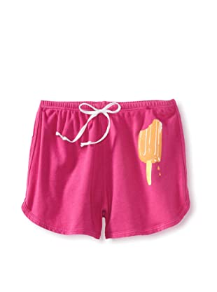 LA Lounge Girl's Popsicle Shorts (Magenta/Orange)