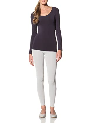 Cosabella Women's Smooth Free Long Sleeve Scoop Neck Top (Navy)