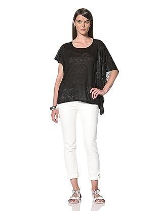 Acrobat Women's Side Drape Knit Top (Black)