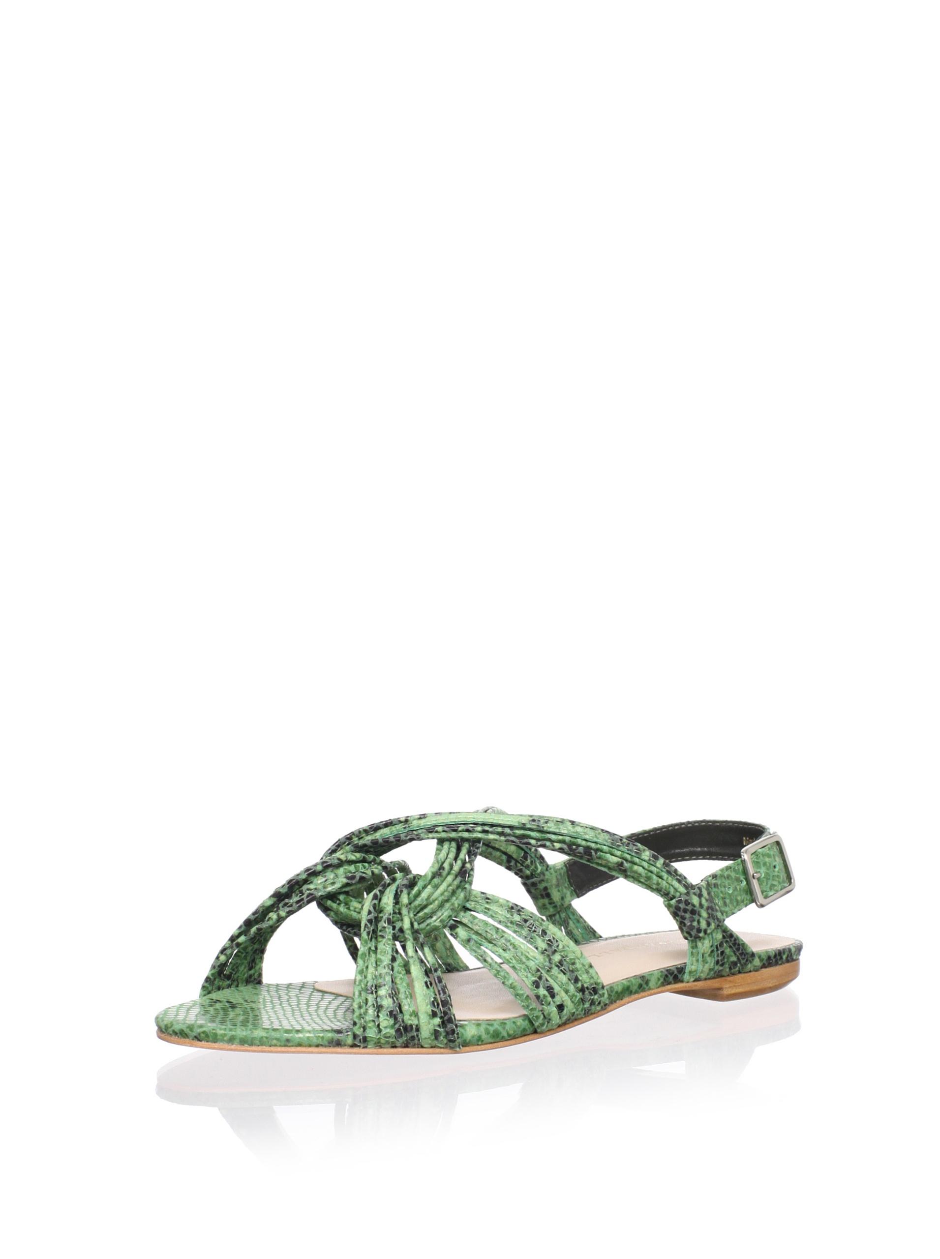 Loeffler Randall Women's Filippa Ankle-Strap Sandal (Bottle)