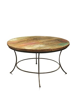 Reclaimed Wood Furniture Bombay Round Coffee Table