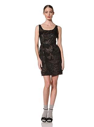 Anna Sui Women's Metallic Camouflage Jacquard Dress (Black Multi)