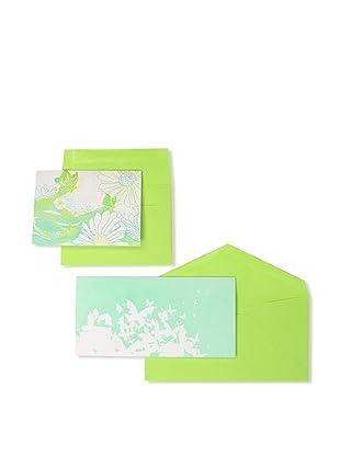 Elum Butterfly Drift Collection, Aqua/Green