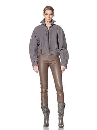 Haider Ackermann Women's Leather Trimmed Jacket (Smoke)